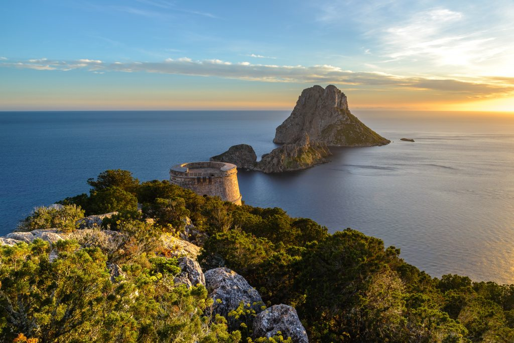 Walking with breathtaking views of Es Vedra is one of the fantastic things to do in Ibiza.