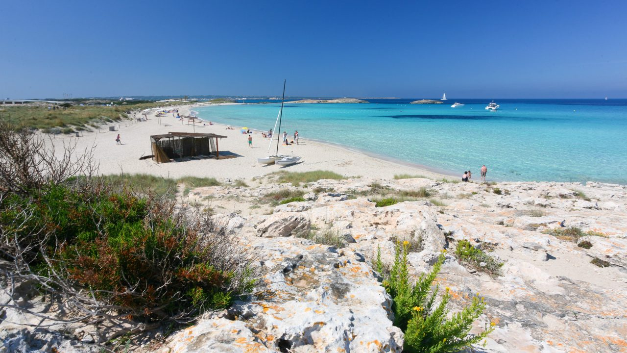 Ses Illetes is one of the best Formentera beaches - Turquoise water