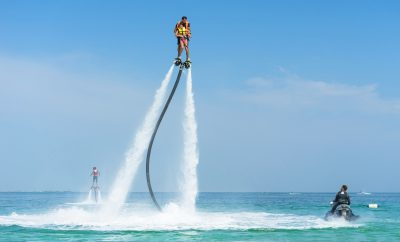 Flyboarding - one of the top things to do in Mallorca